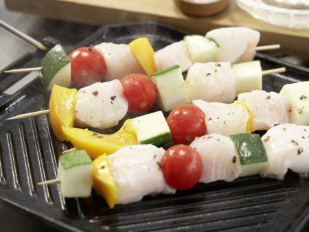Fisch-Gemüse-Spieße: Zubereitungsschritt 7