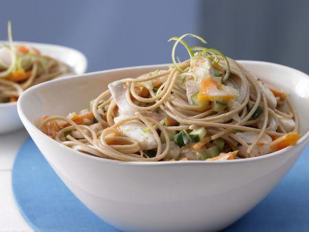 Fisch-Kokos-Spaghetti