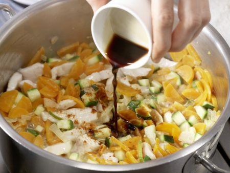 Fisch-Kokos-Spaghetti: Zubereitungsschritt 9
