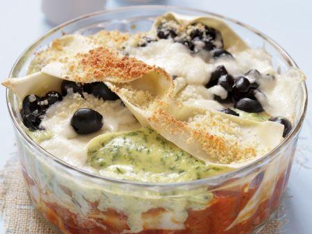 Fisch-Lasagne mit Oliven