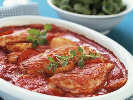 Fisch-Tomaten-Gratin