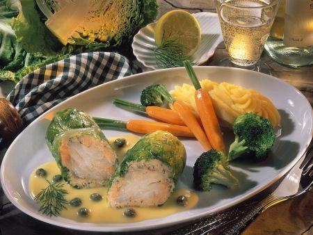 Fisch-Wirsing-Rouladen