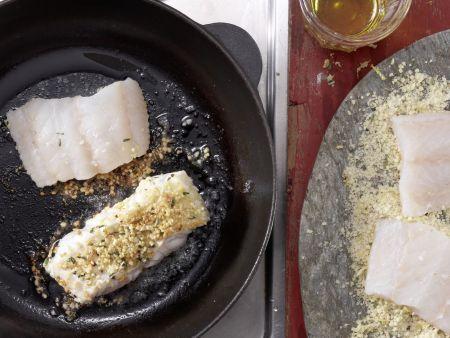 Fischfilets mit Mandelkruste: Zubereitungsschritt 7
