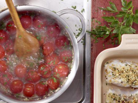 Fischfilets mit Mandelkruste: Zubereitungsschritt 8