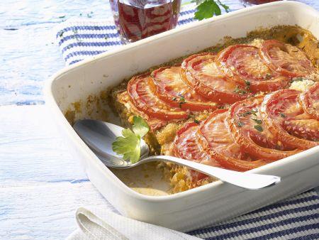 Fischgratin mit Tomaten