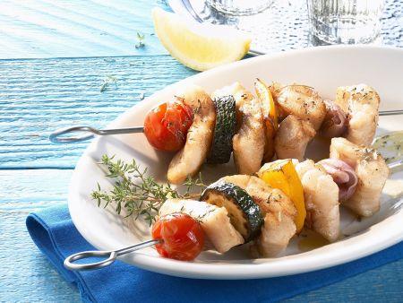 Fischspieße vom Grill