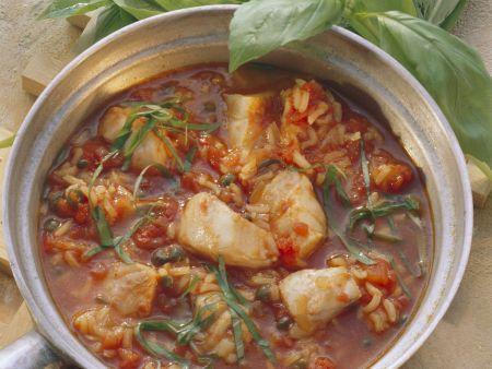 Fischtopf mit Reis