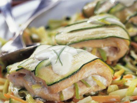 Fischwickel mit Zucchini