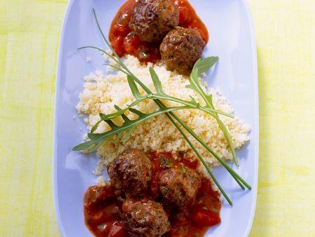 Fleischbällchen mit Couscous