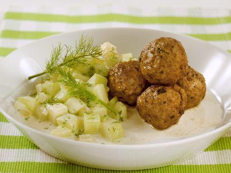 Rezept: Fleischbällchen mit Gurken