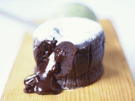 Flüssiger Schokoladenpudding