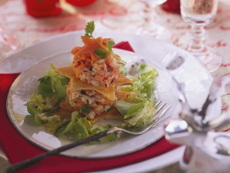 Flusskrebs-Papaya-Salat mit Limette