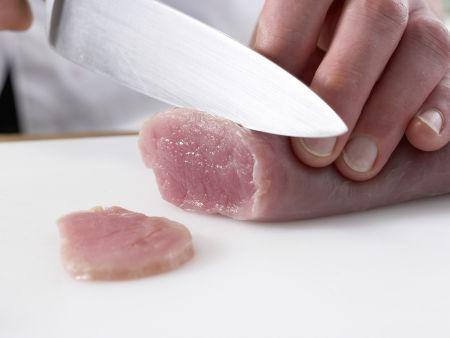 Fondue mit Schweinefilet: Zubereitungsschritt 10