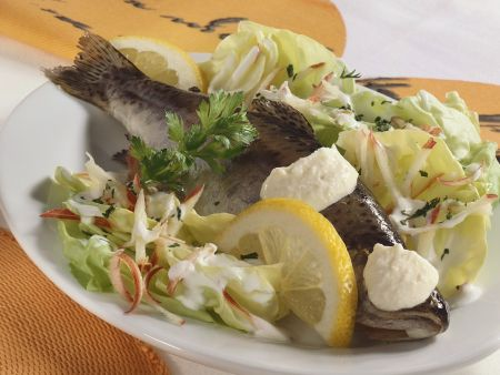 Rezept: Forelle mit Kopfsalat