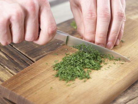 Forellenfilets auf Salat: Zubereitungsschritt 4