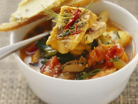 Rezept: Französische Fischsuppe mit Rouille