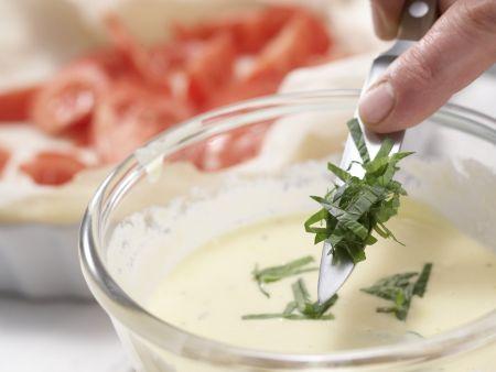 Frischkäse-Tomaten-Tarte: Zubereitungsschritt 4