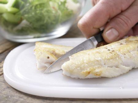 Frisée-Melonen-Salat: Zubereitungsschritt 10