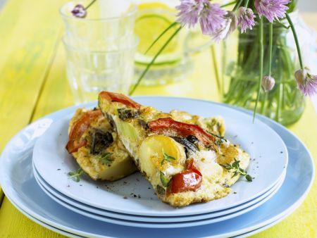 Frittata mit gemischtem Gemüse
