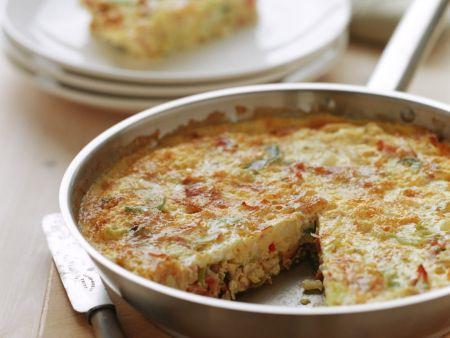 Rezept: Frittata mit Schinken und Feta