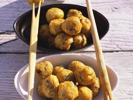 Frittierte Stockfischbällchen