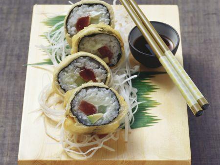 Frittiertes Thunfisch-Maki