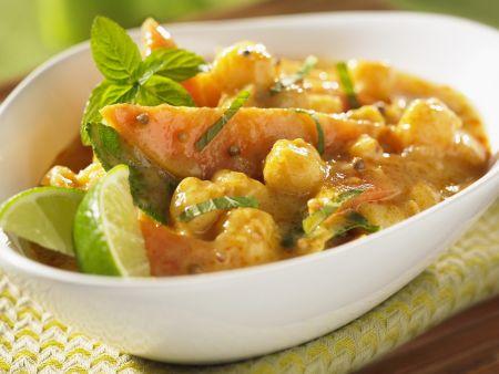 Fruchtiges Curry mit Jakobsmuscheln