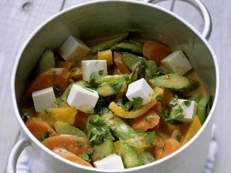 Rezept: Frühlingsgemüse-Curry mit Tofu
