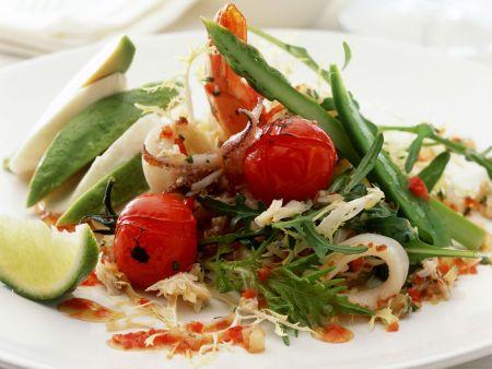 Frutti di Mare Salat mit Gemüse
