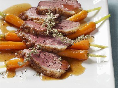 Rezept: Gänsebrust auf Karotten