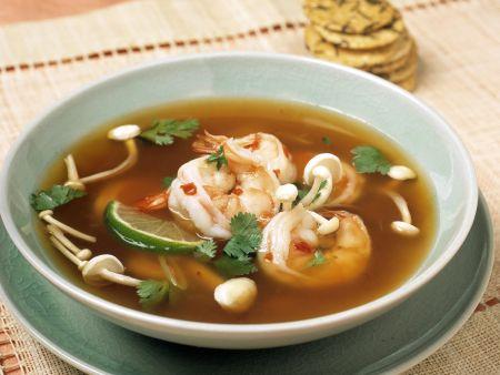 Garnelen-Enoki-Suppe