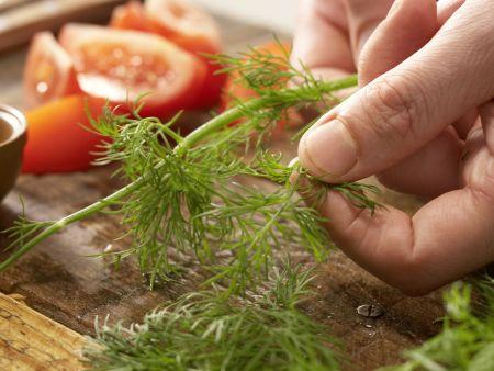 Garnelen-Gemüse-Salat: Zubereitungsschritt 10