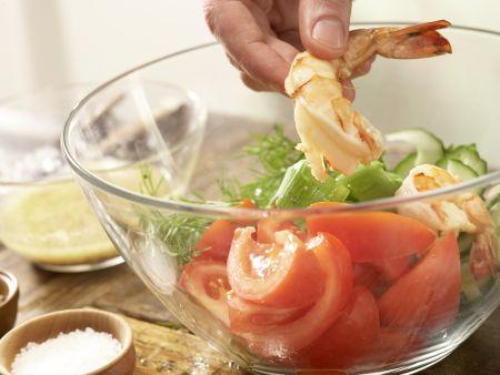 Garnelen-Gemüse-Salat: Zubereitungsschritt 11