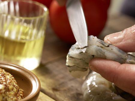 Garnelen-Gemüse-Salat: Zubereitungsschritt 2