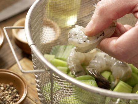 Garnelen-Gemüse-Salat: Zubereitungsschritt 5