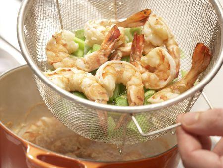 Garnelen-Gemüse-Salat: Zubereitungsschritt 6