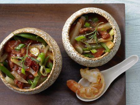Garnelen-Gemüse-Topf