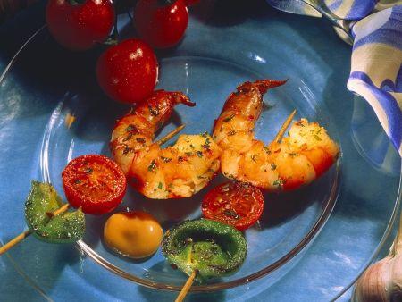 Garnelen-Gemüsespieße