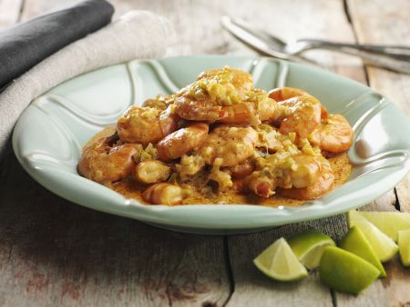 Rezept: Garnelen mit Currysoße