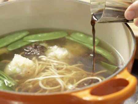 Garnelen-Nudel-Suppe: Zubereitungsschritt 9