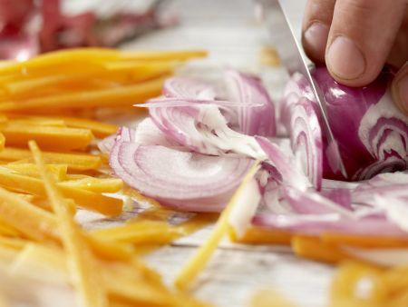 Garnelen in süß-scharfer Glasur: Zubereitungsschritt 2