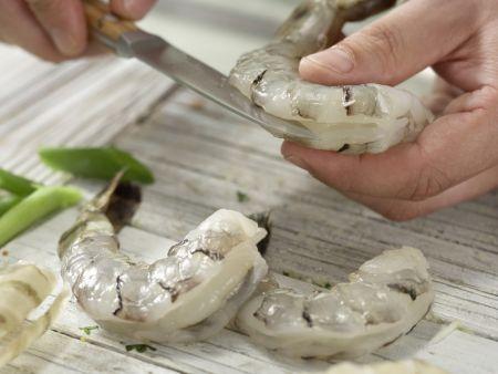Garnelen in süß-scharfer Glasur: Zubereitungsschritt 8