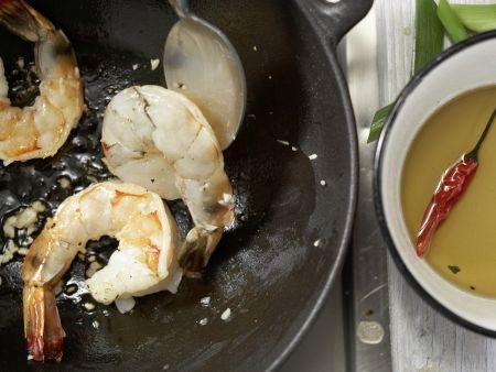 Garnelen in süß-scharfer Glasur: Zubereitungsschritt 9