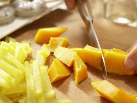 Garnelenspieße auf Salat: Zubereitungsschritt 7