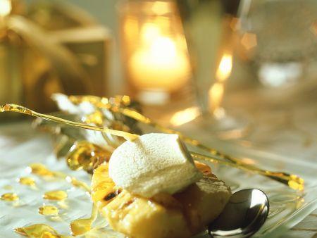 Rezept: Gebackene Ananas mit Karamell