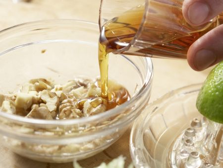 Gebackene Birnen in Pergament: Zubereitungsschritt 2