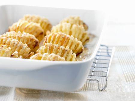 Gebackene Fächerkartoffeln