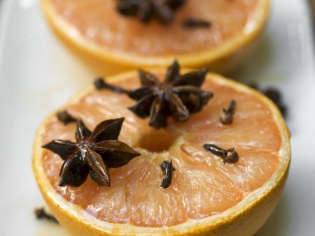 Gebackene Honig-Grapefruit