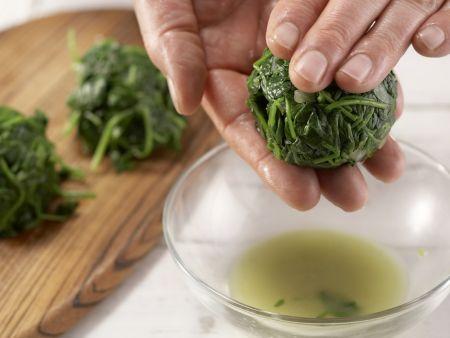 Gebackene Spinatnester: Zubereitungsschritt 6