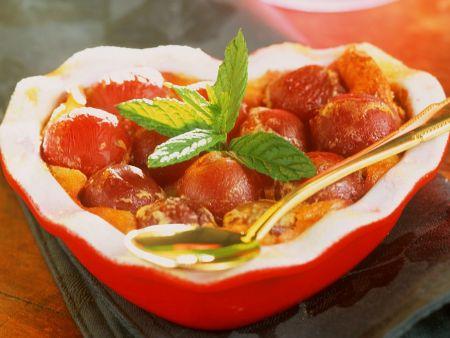 gebackene Trauben